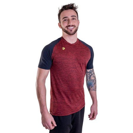 Camiseta Punnto Masculina Manga Curta Raglan Poliamida