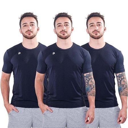 Kit Camisetas Punnto Masculina Manga Curta Poliamida