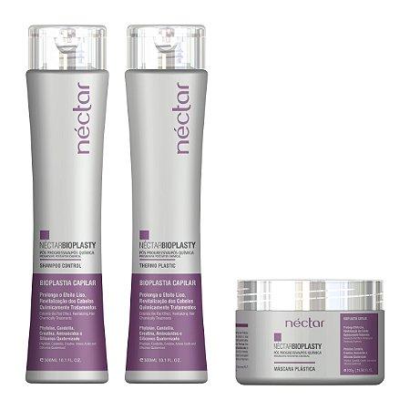 Produto para cabelo intoxicado, danificado e com química - Kit Bio Plasty