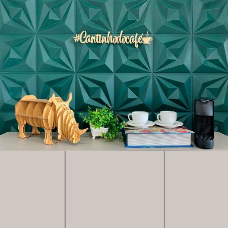 Frases MDF Cantinho do Café  autocolante