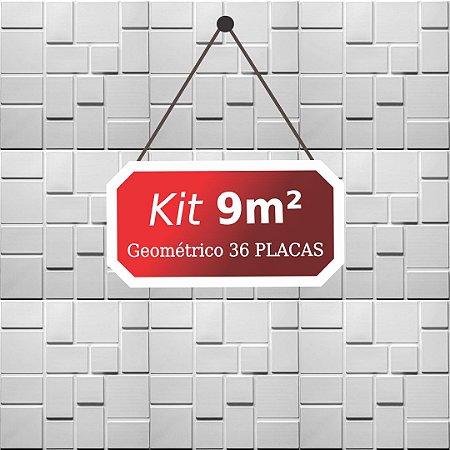Kit 9m²  Revestimento 3D Geométrico