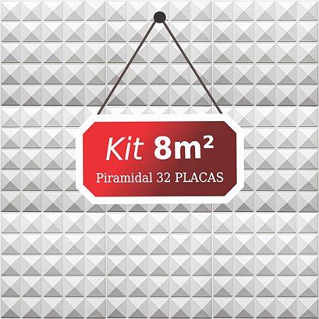 Kit 8m²  Revestimento 3D Piramidal