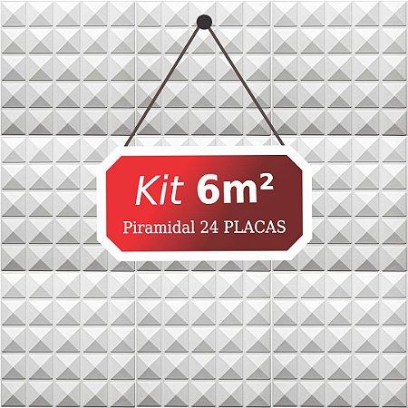 Kit 6m²  Revestimento 3D Piramidal