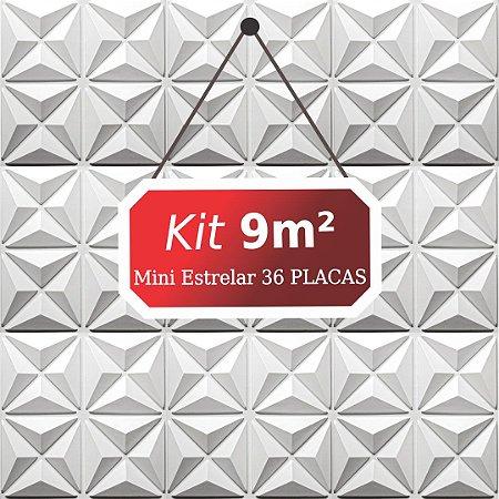 Kit 9m²  Revestimento 3D Mini estrelar