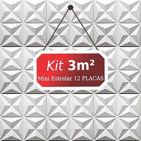 Kit 3m²  Revestimento 3D Mini estrelar