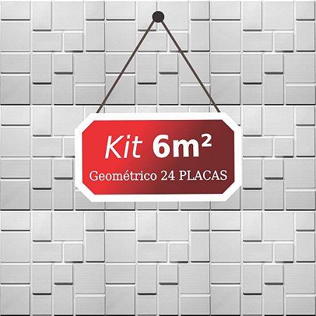 Kit 6m²  Revestimento 3D Geométrico
