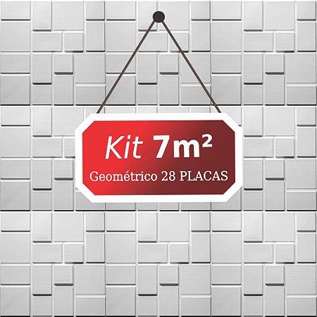 Kit 7m²  Revestimento 3D Geométrico