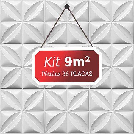 Kit 9m² Placas de Revestimento 3D Pétalas