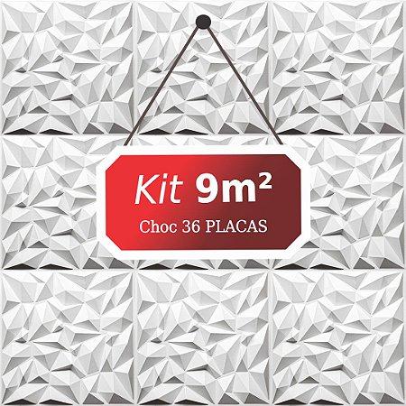 Kit 9m²  Revestimento 3D Choc