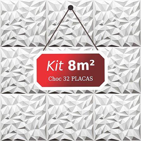 Kit 8m²  Revestimento 3D Choc