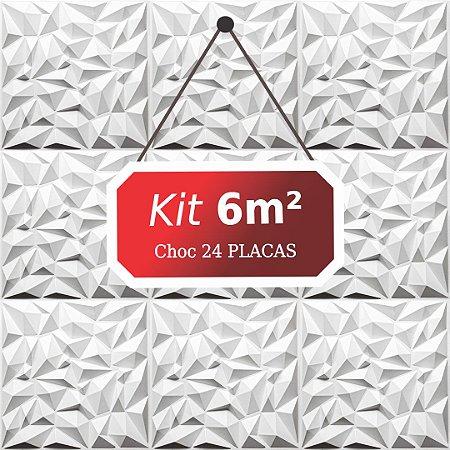 Kit 6m²  Revestimento 3D Choc