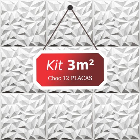 Kit 3m²  Revestimento 3D Choc