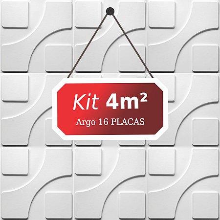 Kit 4m²  Revestimento 3D Argo