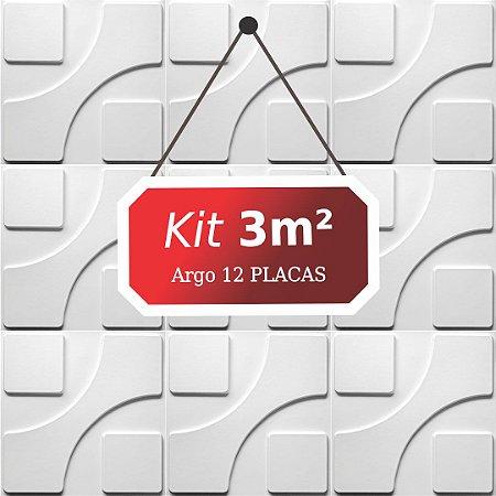 Kit 3m²  Revestimento 3D Argo