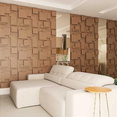 Placas decorativas 3D Poliestireno Quadratto m²