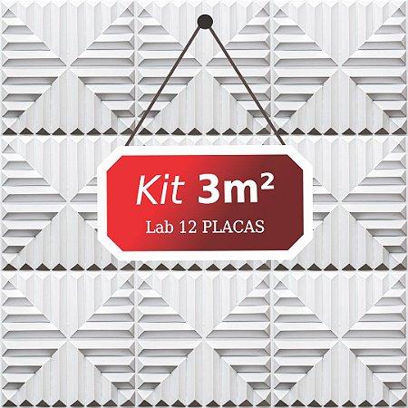 Kit 3m²  Revestimento 3D Lab