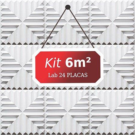 Kit 6m²  Revestimento 3D Lab