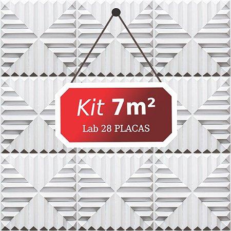 Kit 7m²  Revestimento 3D Lab