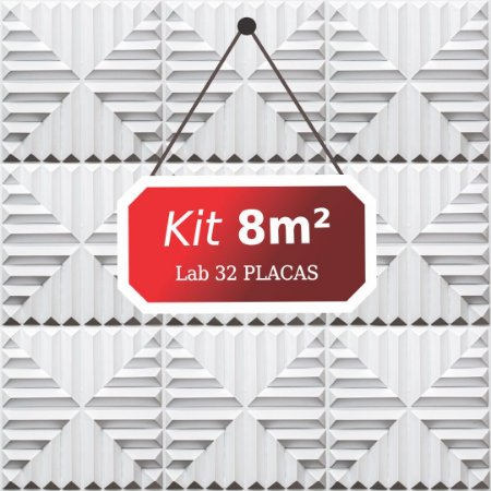 Kit 8m²  Revestimento 3D Lab