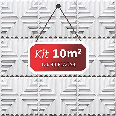Kit 10m²  Revestimento 3D Lab