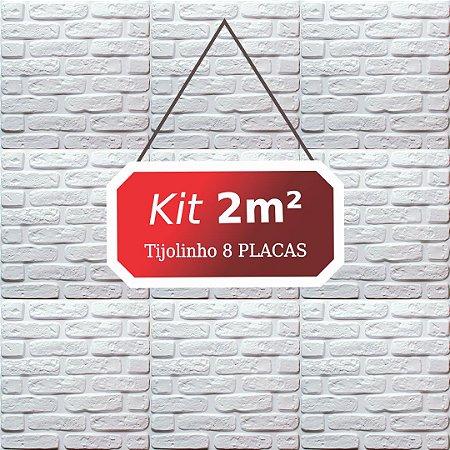 Kit 2m² Revestimento 3D Tijolinho