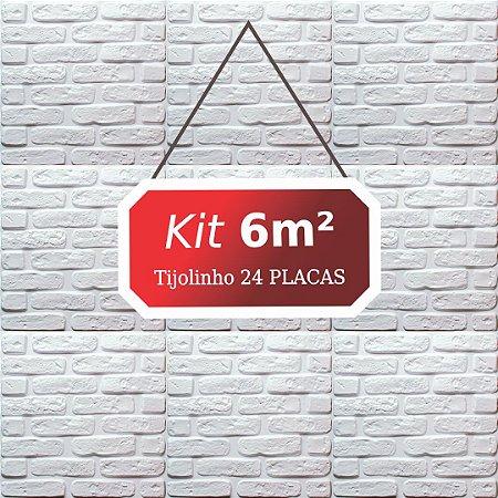 Kit 6m² Revestimento 3D Tijolinho