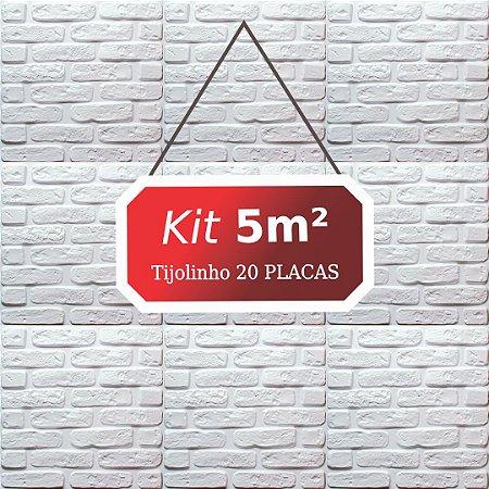 Kit 5m² Revestimento 3D Tijolinho