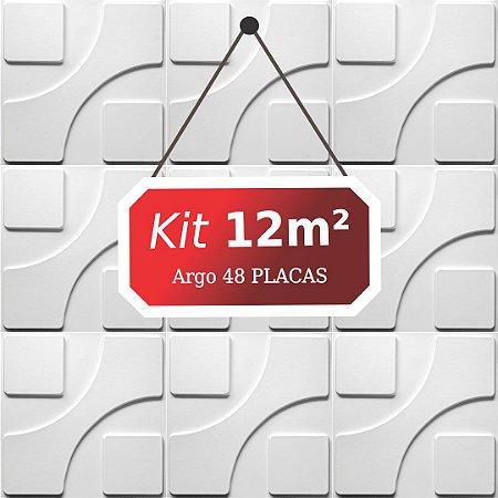 Kit 12m²  Revestimento 3D Argo