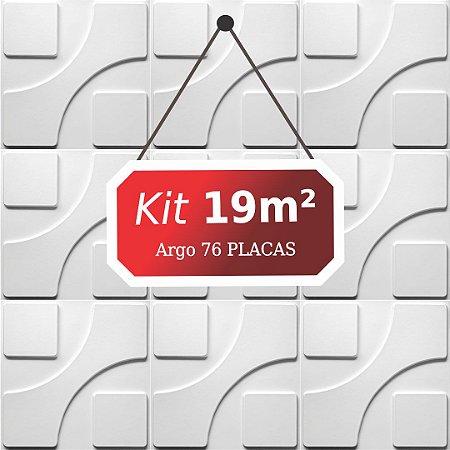 Kit 19m²  Revestimento 3D Argo