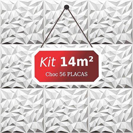 Kit 14m²  Revestimento 3D Choc