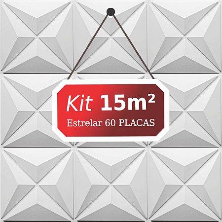 Kit 15m²  Revestimento 3D Estrelar