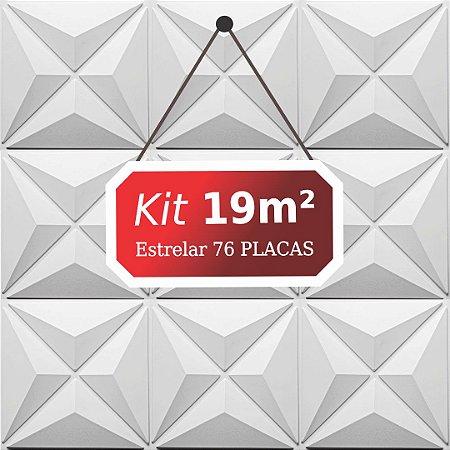 Kit 19m²  Revestimento 3D Estrelar