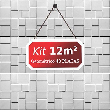 Kit 12m²  Revestimento 3D Geométrico