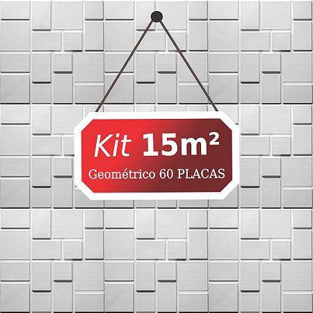 Kit 15m²  Revestimento 3D Geométrico