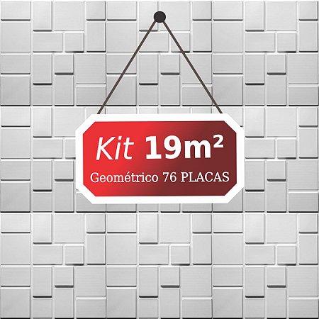 Kit 19m²  Revestimento 3D Geométrico