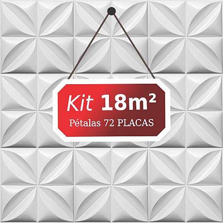 Kit 18m² Placas de Revestimento 3D Pétalas