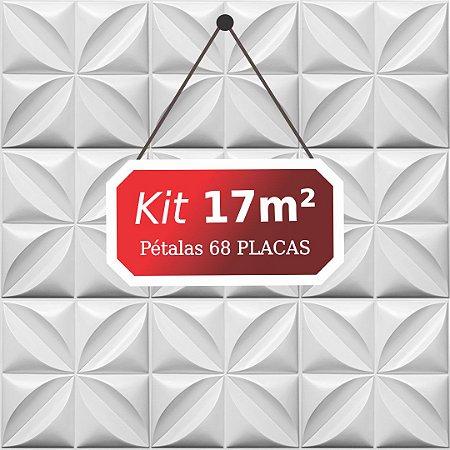 Kit 17m² Placas de Revestimento 3D Pétalas