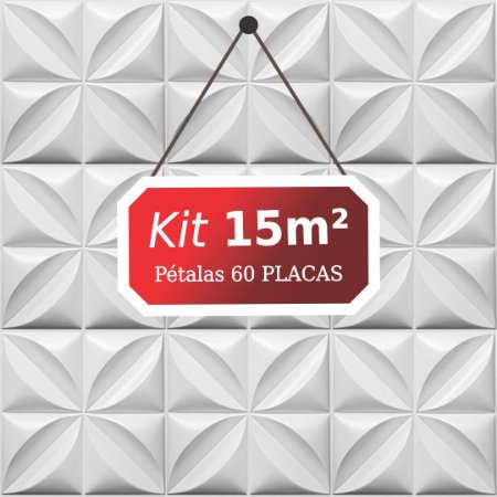 Kit 15m² Placas de Revestimento 3D Pétalas