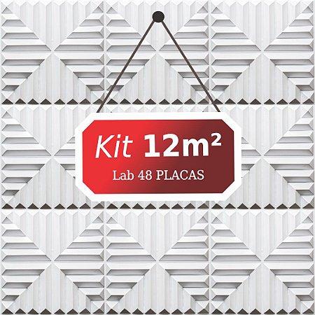 Kit 12m²  Revestimento 3D Lab