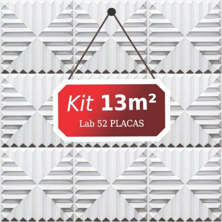 Kit 13m²  Revestimento 3D Lab