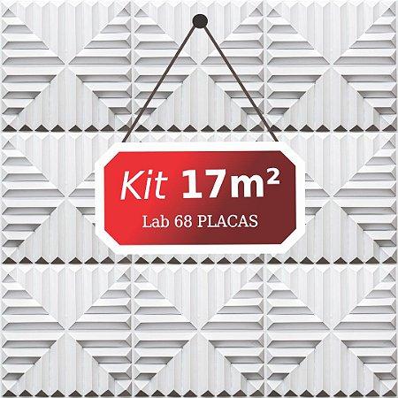 Kit 17m²  Revestimento 3D Lab