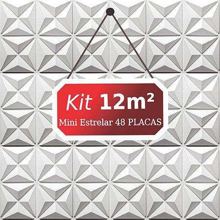 Kit 12m²  Revestimento 3D Mini estrelar