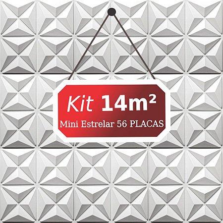 Kit 14m²  Revestimento 3D Mini estrelar