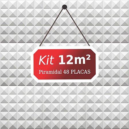 Kit 12m²  Revestimento 3D Piramidal