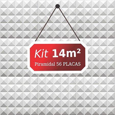 Kit 14m²  Revestimento 3D Piramidal