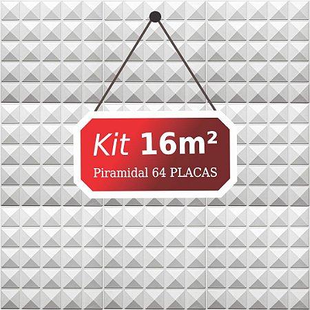 Kit 16m²  Revestimento 3D Piramidal