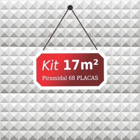 Kit 17m²  Revestimento 3D Piramidal