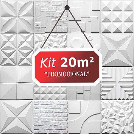 Kit 20m²  Revestimento 3D Piramidal