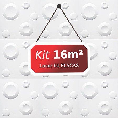 Kit 16m²  Revestimento 3D Lunar