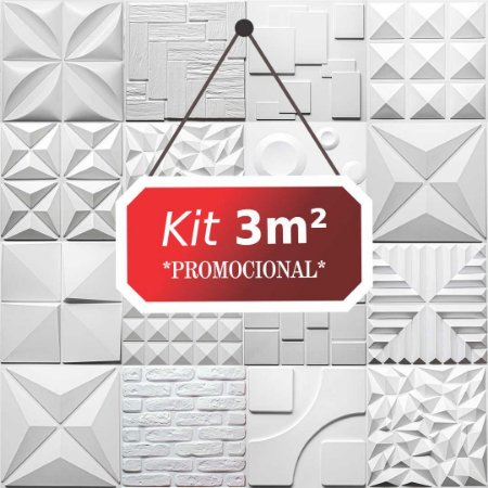 Kit 3m² Revestimento 3D Rustico